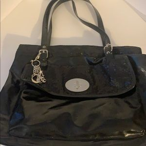 NY&CO large black purse sequins Black